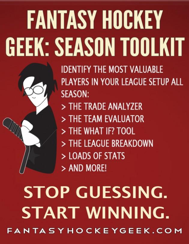 Fantasy Hockey Geek: Season Toolkit